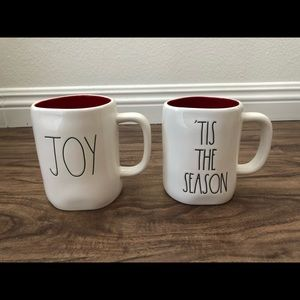 "Rae Dunn ""Tis The Season"" ""Joy"" Mugs Christmas"